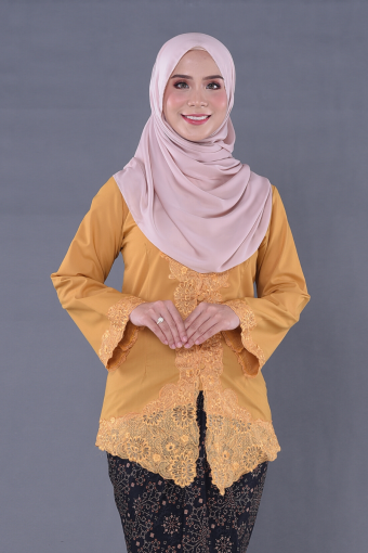 Kebaya Teja - Turmeric (Top Only)